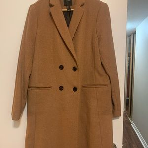 Forever 21 Double Breasted Dress Coat